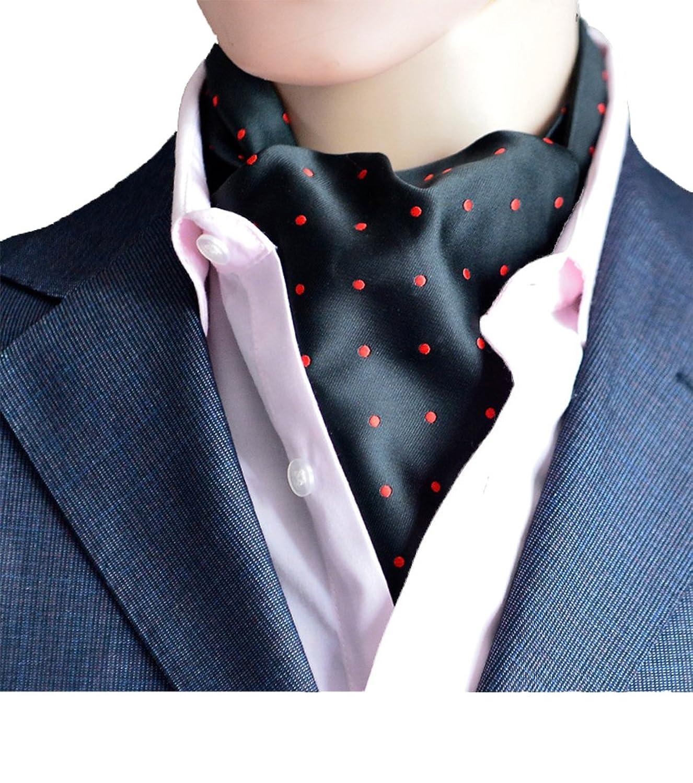 100% Handmade Cravate Ascot Tie De Fantaisie En Polyester Soie Pour Mariée  Cérémonie Fête Party 241520e6bc9