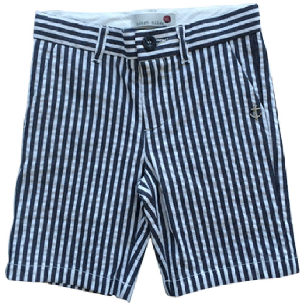 Hitch-Hiker by Monnalisa Little Boy Striped Shorts Grey 4
