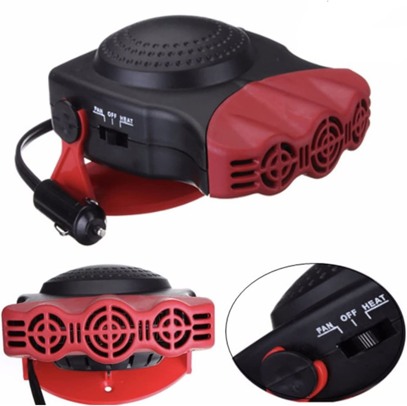 Yosooo Car Heater 24 500W Full Automatic Low Noise Low Consumption Car Heater Portable Purifies Air Heating Defrost Defogger