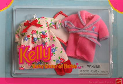 Amazon Com Barbie Kelly Bed Time Fashion Clothes Set 1996 Toys