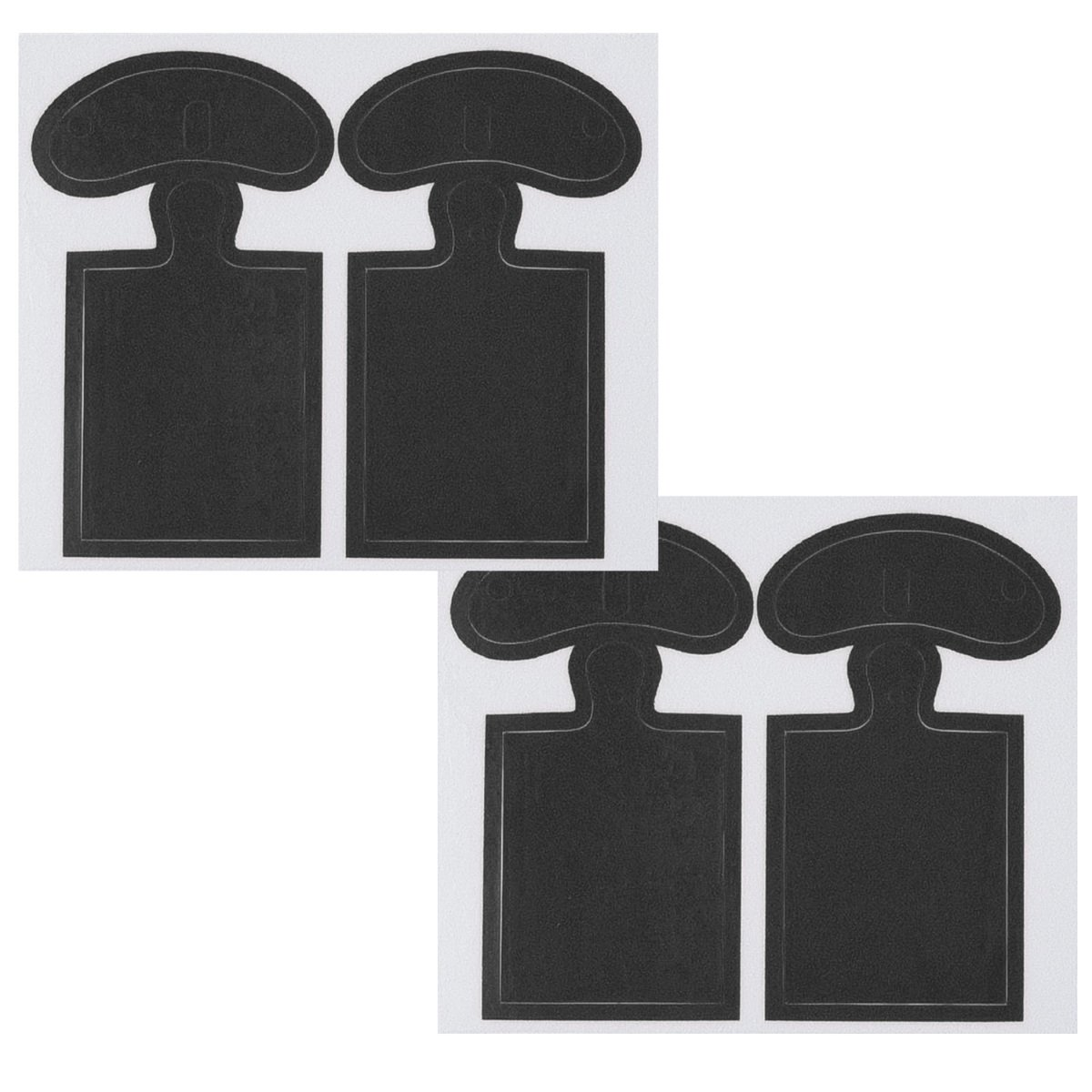 decoraci/ón de Cubierta Protectora para aud/ífonos In-Ear Juego de 4X Stickers para Auriculares Apple en Rosa Fucsia kwmobile Set 4en1 Pegatinas para Apple AirPods