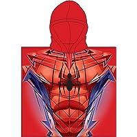 Various Poncho - Toalla Infantil con Capucha de niño y niña Licencia Oficial Marvel (Spider Man)