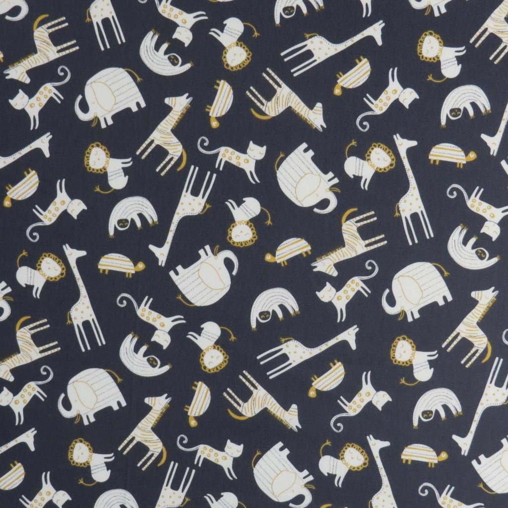 SheetWorld Fitted Playard Sheet Fits BabyBjorn Travel Crib Light 24 x 42 - Modern Safari Animals Dark Gray - Made in USA