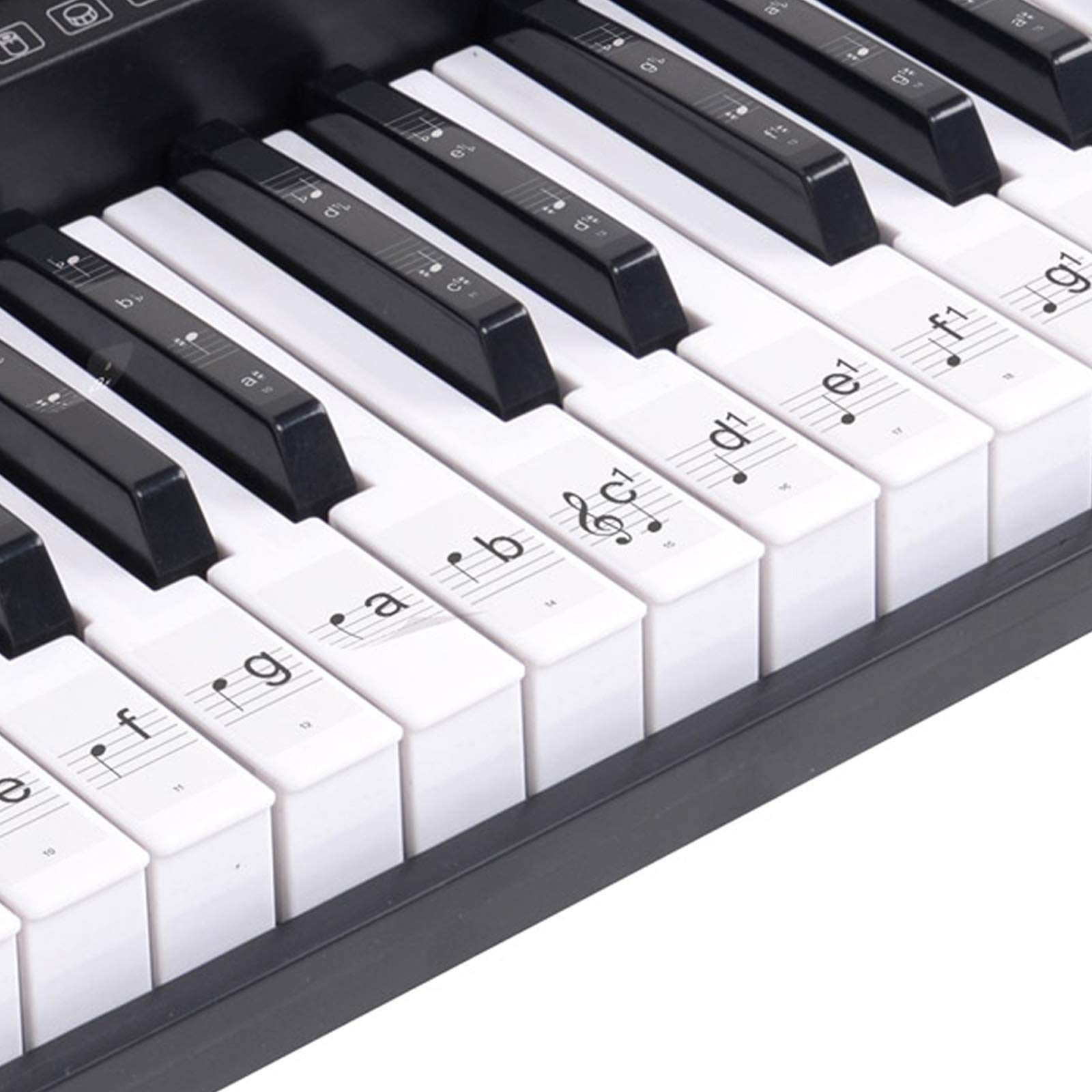 Hamzer 61-Key Electronic Keyboard Portable Digital Music Piano with Lighted Keys, H Stand, Stool, Headphones Microphone, Sticker Set by Hamzer (Image #9)