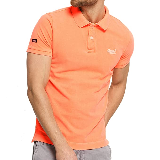 Superdry Polo - Para Hombre Naranja Naranja Medium: Amazon.es ...