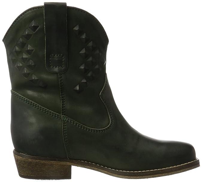 Western, Bottes Motardes Femme - Noir - Schwarz (Black)ILC I Love Candies Shoes