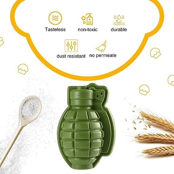 Gugutogo - Molde de silicona con forma de granada en 3D, para hacer hielo o hacer hielo, color verde: Amazon.es: Hogar