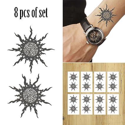 COKOHAPPY 5 hoja Magic Sol Tótem Temporales Tatuaje para Disfraz ...