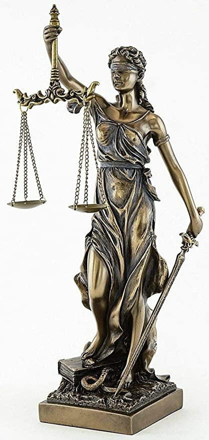 Jfsm Inc Blind Lady Justice Statue Sculpture Greek Roman Goddess Of Justice Home Kitchen