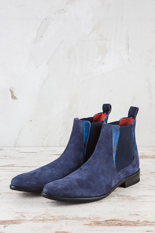 Melvin & Hamilton Herren Toni - 6 Chelsea Boots Blau - Toni 5f8566