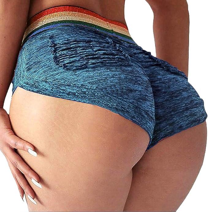 Amazon.com: YOFIT Pantalones cortos de yoga para mujer con ...