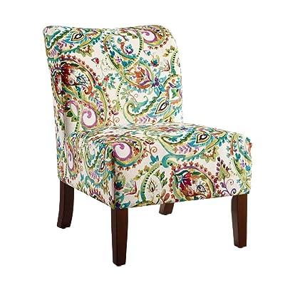 Linon Julie Curved Back Slipper Chair