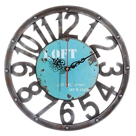 Vintage Reloj de pared según los, weizq 15 pulgadas (40 cm) grande Reloj