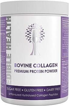 Edible Health Polvo de Colágeno Bovino, Envase de 400 g. Suplementos de Péptidos de Proteína Hidrolizada 13 veces Más Fuertes Que Las Cápsulas + ...