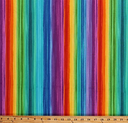 a864c442e13 Image Unavailable. Image not available for. Color: Cotton Rainbow Stripes  Bright ...