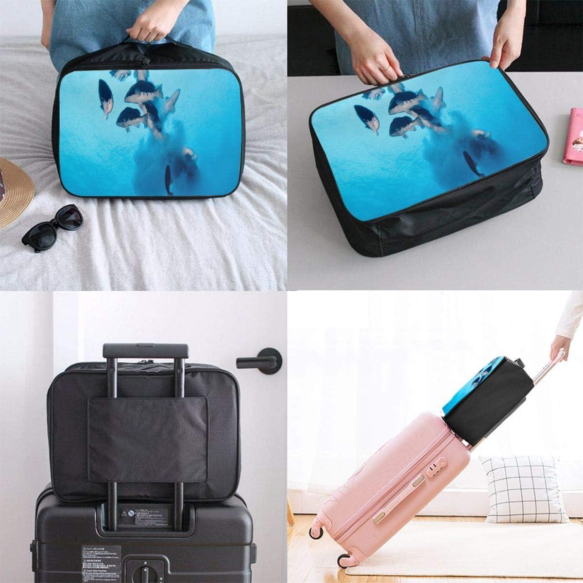 Ocean World Travel Carry-on Luggage Weekender Bag Overnight Tote Flight Duffel In Trolley Handle