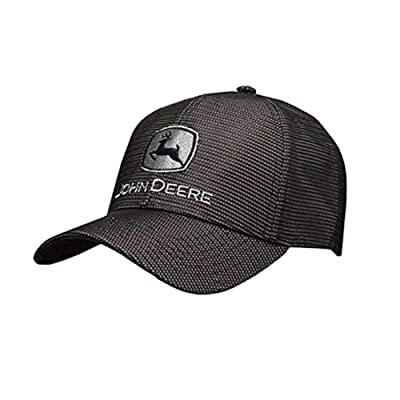 John Deere Gray and Black Reflective Hat: Clothing