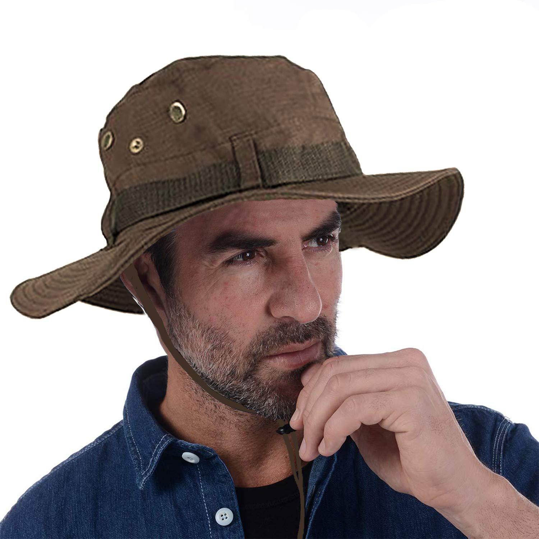 Bush Hat Bucket Showerproof Rain Wide Brim Black Navy Green Mens Ladies Womens