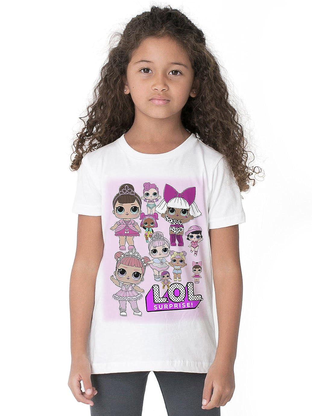 Waterman Falls UK LOL Surprise Dolls Girls White T Shirt COOKIEMONSTER85_P