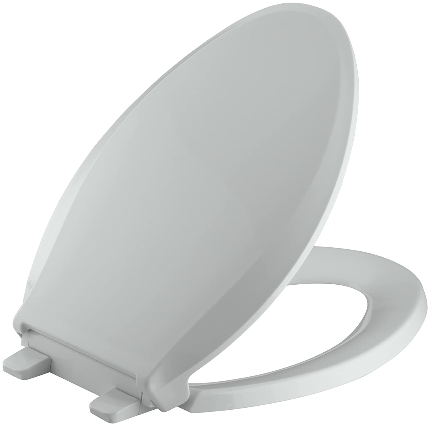 KOHLER K-4636-47 Cachet Quiet-Close with Grip-Tight Bumpers Elongated Toilet Seat, Almond