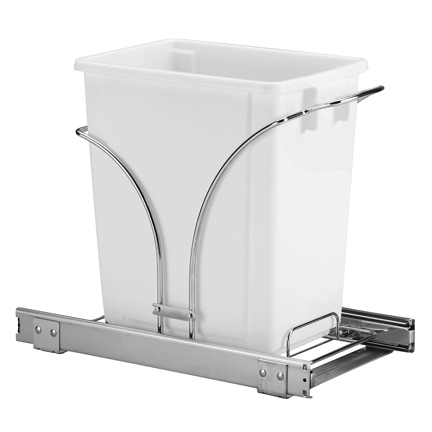 Household Essentials C29537-1 Under Cabinet Single Sliding Trash Can Caddy, 5-Gallon