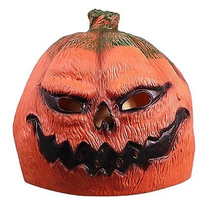 Máscara Halloween Látex Calabaza Máscara Deluxe Novedad Cos Fantasma Calabaza Cabeza cubierta Pascua Spoof Juego Cubierta