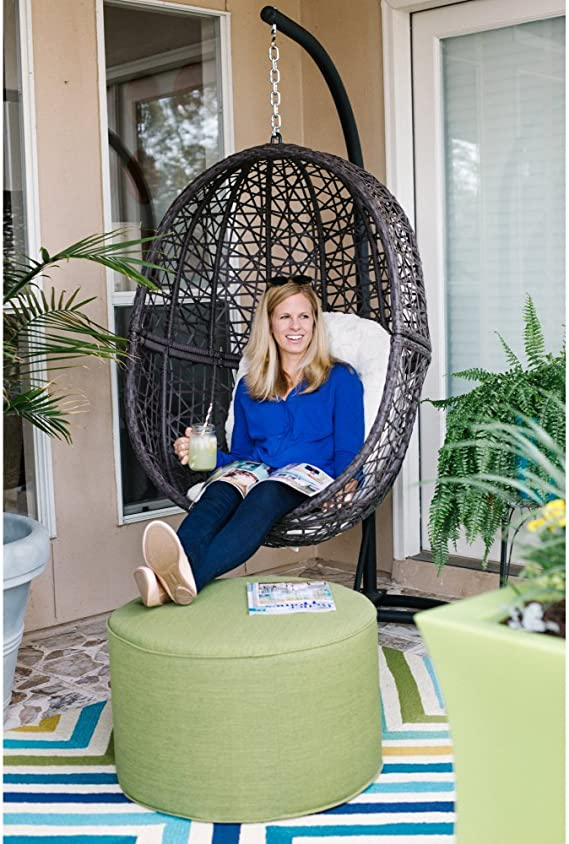Amazon.com: Mueble de mimbre de resina para colgar huevos al ...