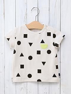 7ecb277782a38 Caldia (カルディア) ベビー プリント ポケット付き Tシャツ 赤ちゃん 子ども服 ベビー服 女の子 男の子