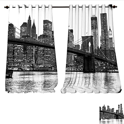 Amazon Com Williamsdecor Window Curtain Fabric Brooklyn Bridge