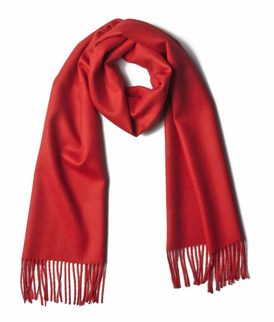 Luxury 100% Pure Baby Alpaca Scarf, for Men and Women - A Great Gift Idea in Many Colors (Red)