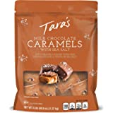 Tara's Small Batch Milk Chocolate Covered Sea Salt Soft Caramels, 3 Pound Dark Chocolate 48.6 Ounce