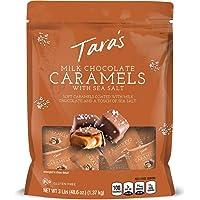 Tara's Small Batch Milk Chocolate Covered Sea Salt Soft Caramels, Dark Chocolate, 48.6 Ounce