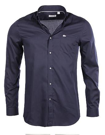 83c81d94ef Lacoste homme - Chemise manches longues Bleu nuit Lacoste CH6660 - Talla -  44