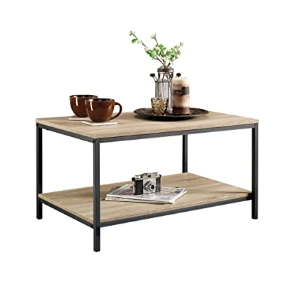 Amazon.com: Sauder 420275 Coffee Table, Furniture, Characters Oak ...