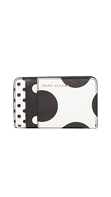 ff2ebad1f7 Amazon.com: Marc Jacobs Women's Compact Wallet, White Multi, One ...