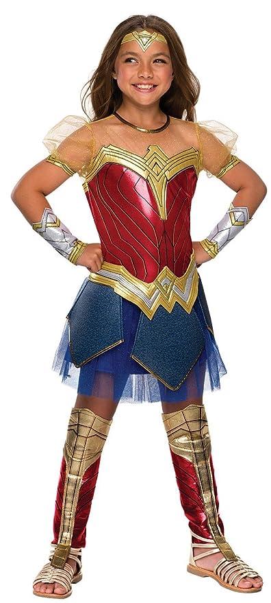 0649856b14e Rubie's Costume Co Justice League Child's Wonder Woman Premium Costume