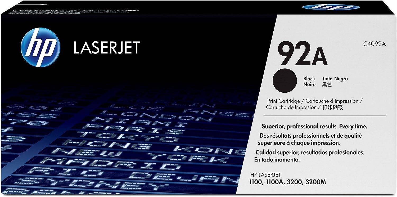 HP 92A (C4092A) Black Original LaserJet Toner Cartridge DISCONTINUED BY MANUFACTURER