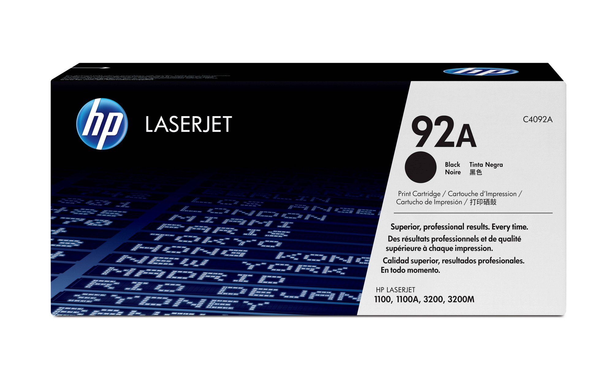 HP 92A (C4092A) Black Original LaserJet Toner Cartridge DISCONTINUED BY MANUFACTURER