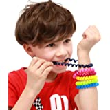 SANHO Chewable Jewelry Coil Bracelet Set- Speech and Communication Aid for Autism and Sensory, Assorted Colors (Pack of 6)