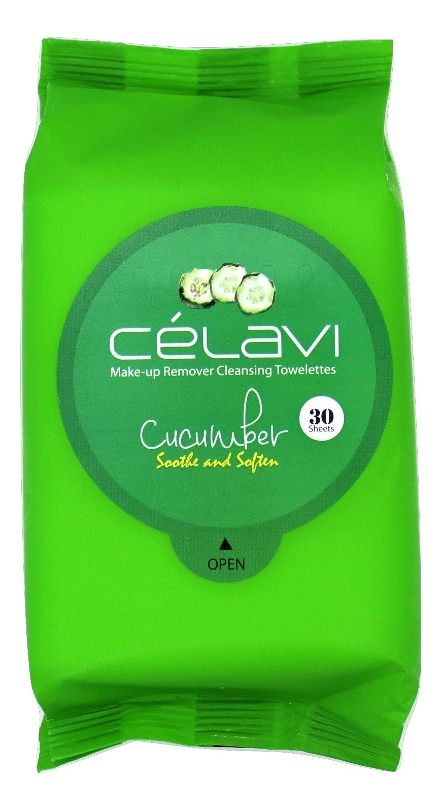 Celavi Makeup Remover Cleansing Wipes Removing Towelettes 2 Packs - 60 Sheets (Cucumber)