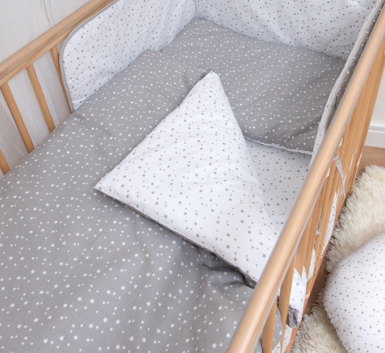 2 Pcs Junior Cot Bed Bedding Set - 150x120cm Duvet Cover & Pillowcase - Pattern 2 Baby Comfort