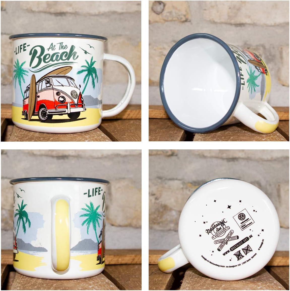 Gobelet Tasse Mug en Émail 360ml Nostalgic-Art VW Bulli