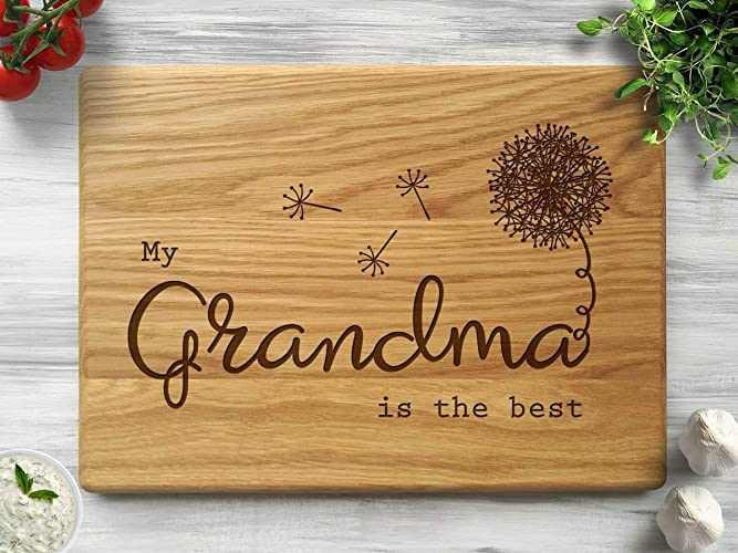 Personalized Cutting Board Grandmas Kitchen Mothers Day Gift Grandma Custom Great Birthday Christmas