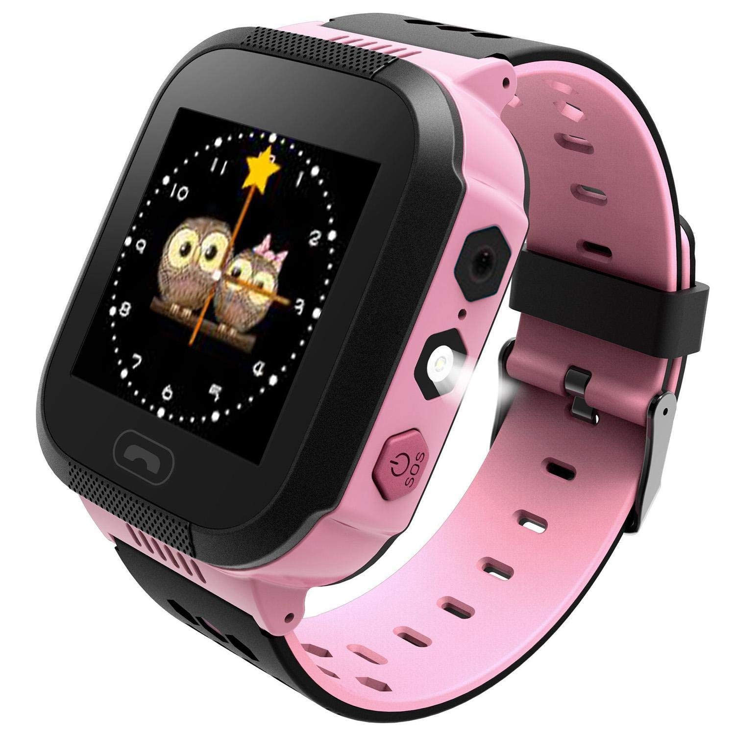 Pink children's smart watch