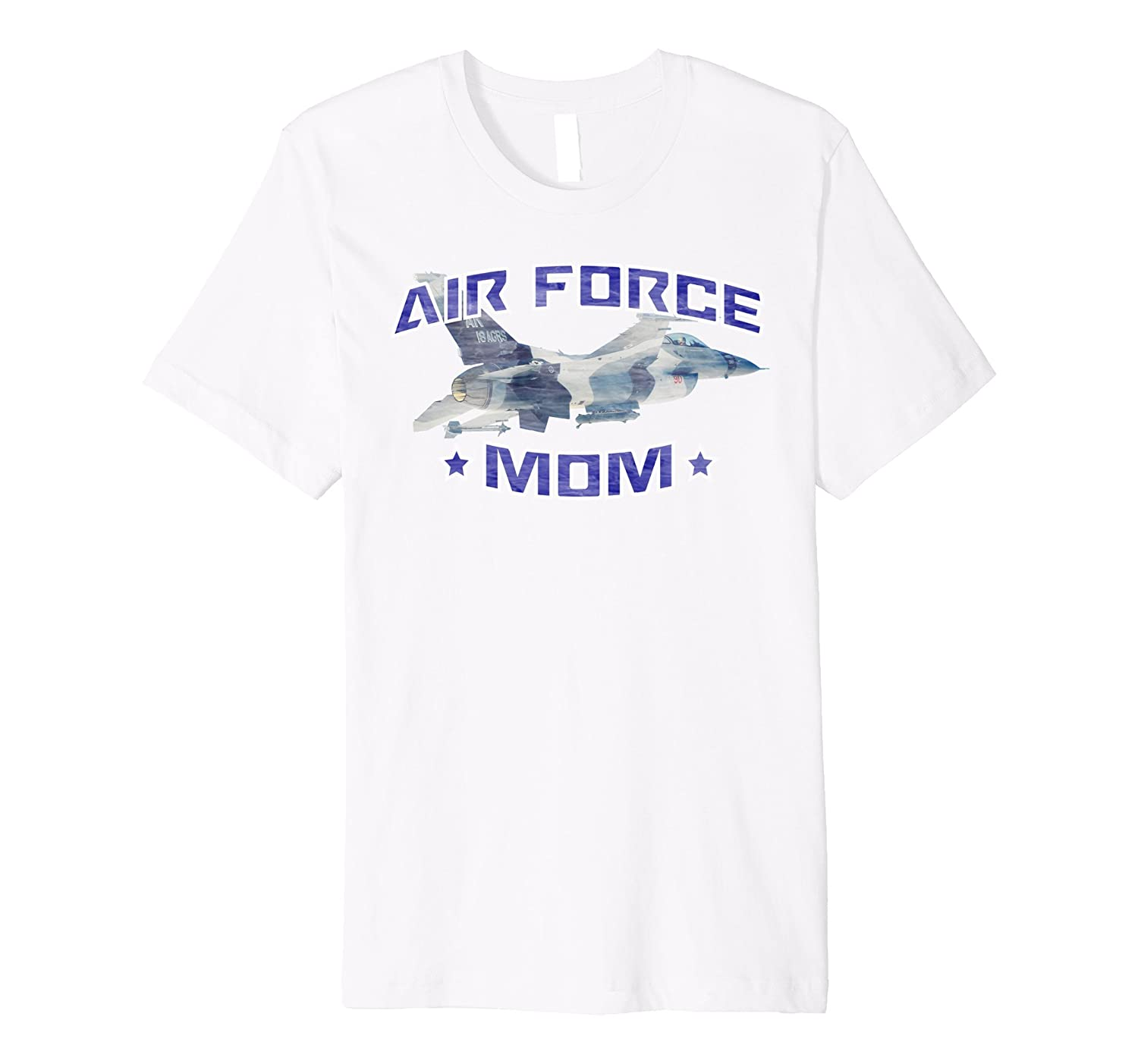 AIR FORCE MOM F-16 FIGHTING FALCON DISTRESSED T-SHIRT-AZP