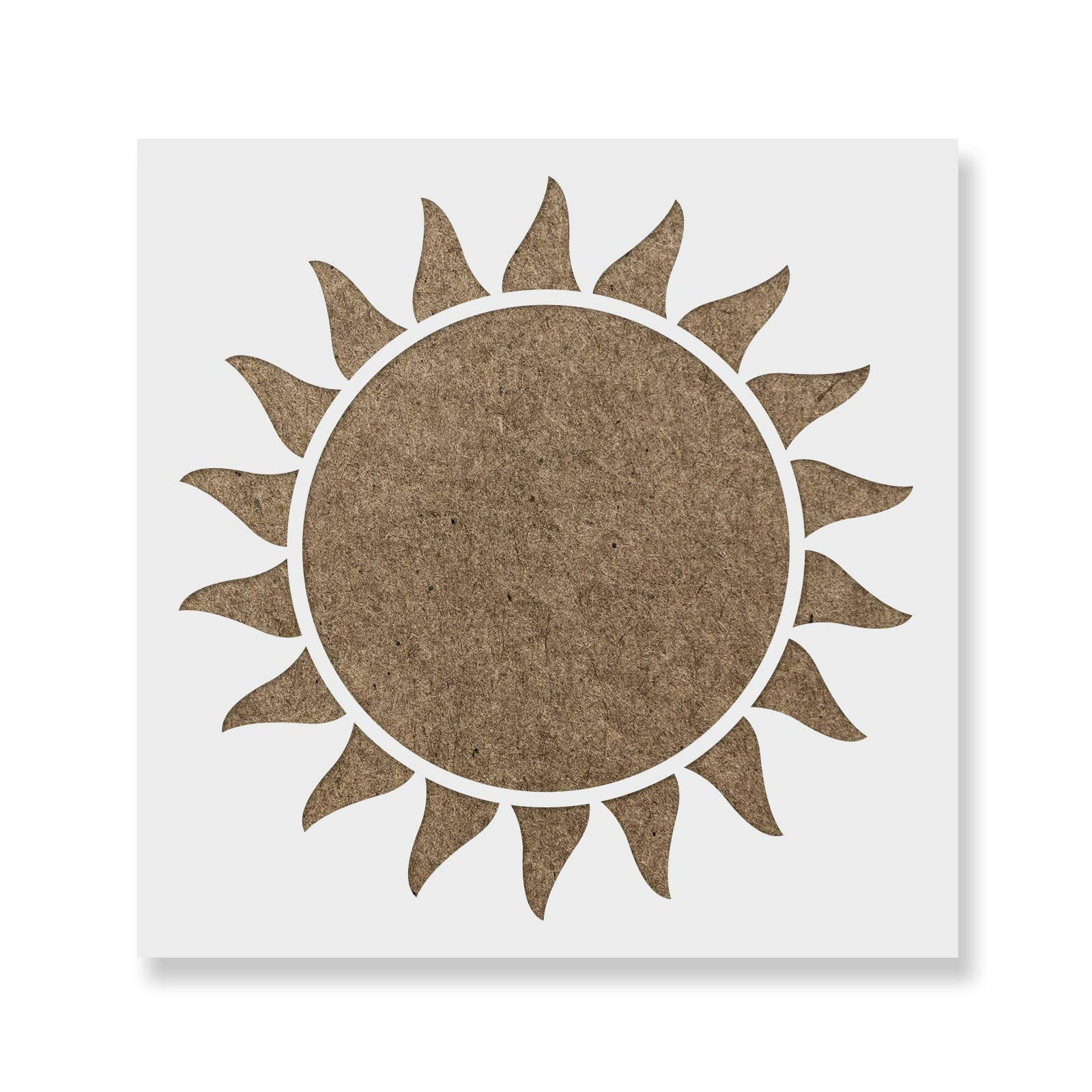 Sun Stencil Template - Reusable Stencil with Multiple Sizes Available