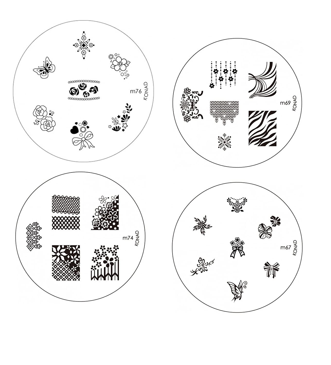 Amazon. Com: konad square stamping nail art image plate w/ double.