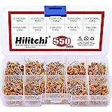 Hilitchi 550Pcs 0.1uF-10uF DIP Monolithic Multilayer Ceramic Chip Capacitors Assortment Kit