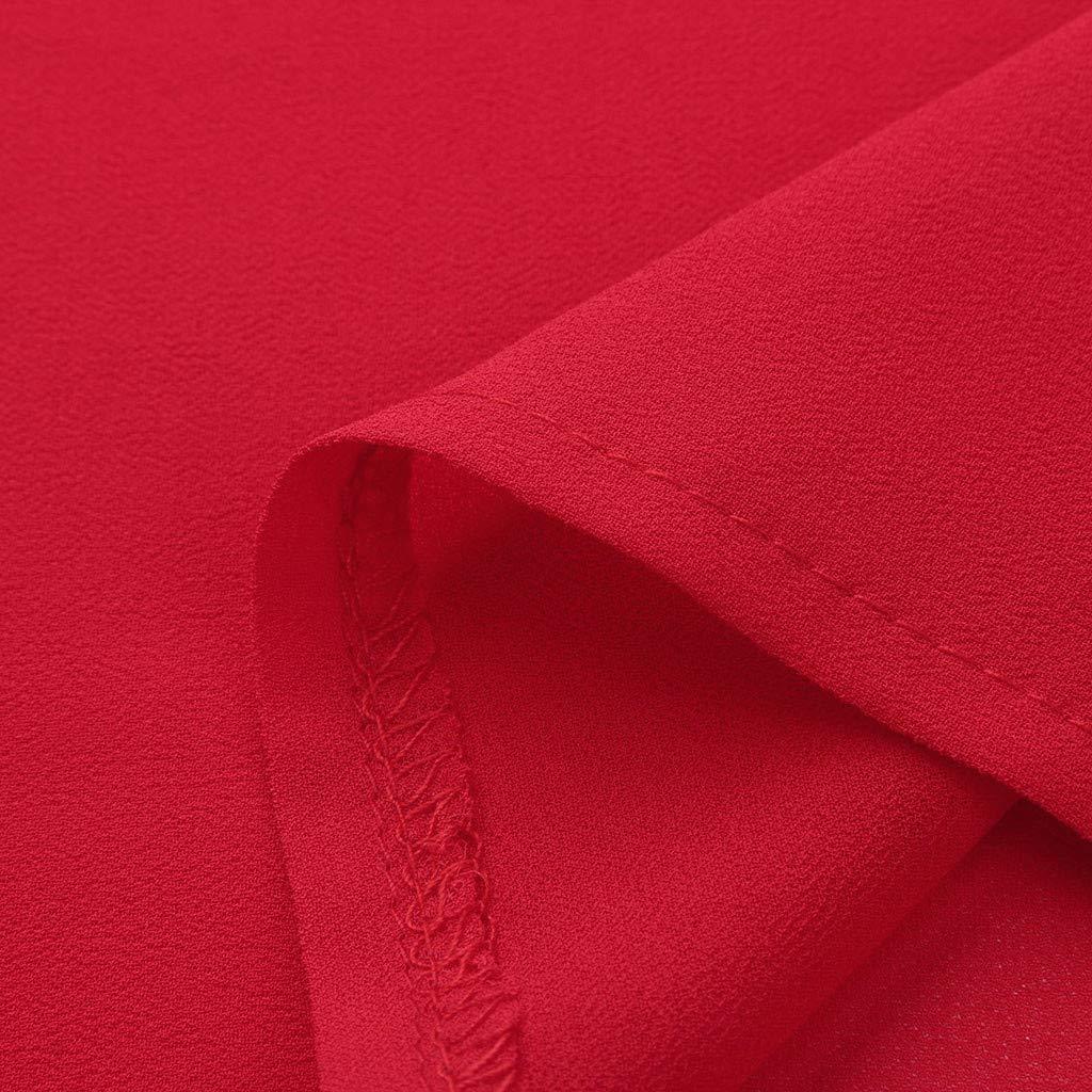 Cewtolkar Women Tank Tops Vest Summer Camisole Zipper Blouse Chiffon T Shirt Sleeveless Tees V Neck Tunic