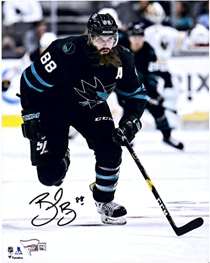 detailed look 2f593 a35fc Brent Burns San Jose Sharks Autographed 8